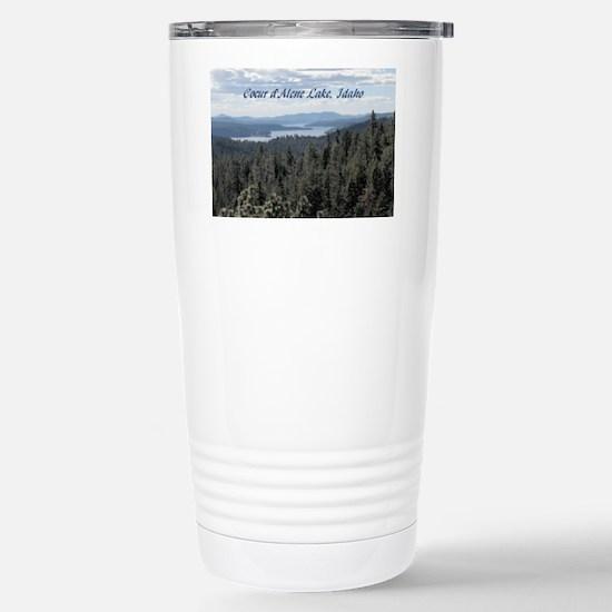 Coeur d'Alene Lake Stainless Steel Travel Mug