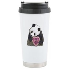 """Panda with a Heart for you"" Travel Mug"