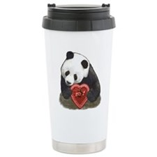 """Panda with a heart"" Travel Mug"