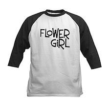 Hipster Flower Girl: Coal Tee