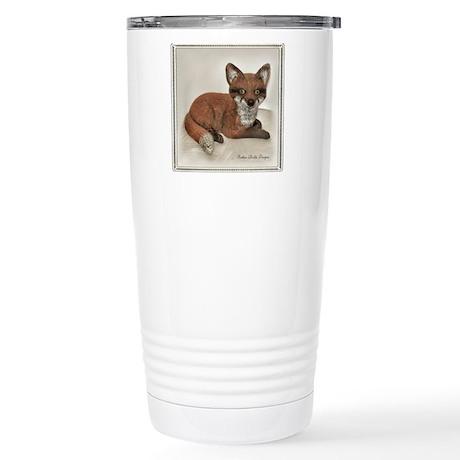 Fox Resting Design Stainless Steel Travel Mug