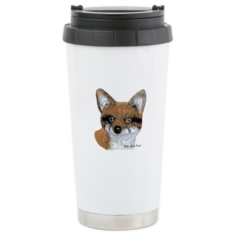 Fox Portrait Design Stainless Steel Travel Mug