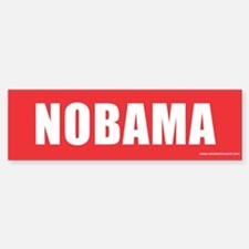 NOBAMA Red Bumper Bumper Bumper Sticker