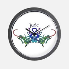 Jude's Celtic Dragons Name Wall Clock