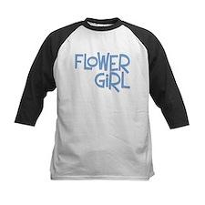 Hipster Flower Girl: Blue Tee