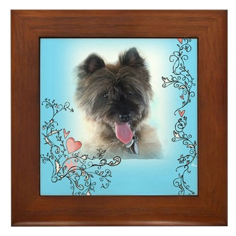 Cairn Terrier Framed Tile