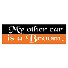 Other Car is a Broom Bumper Bumper Sticker
