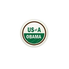 USofA Organic Obama Mini Button