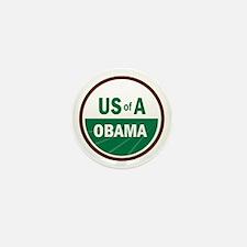 USofA Organic Obama Mini Button