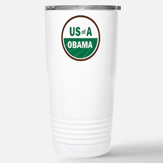 USofA Organic Obama Stainless Steel Travel Mug