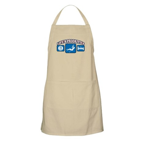 Life's Priorities Pole Vault BBQ Apron