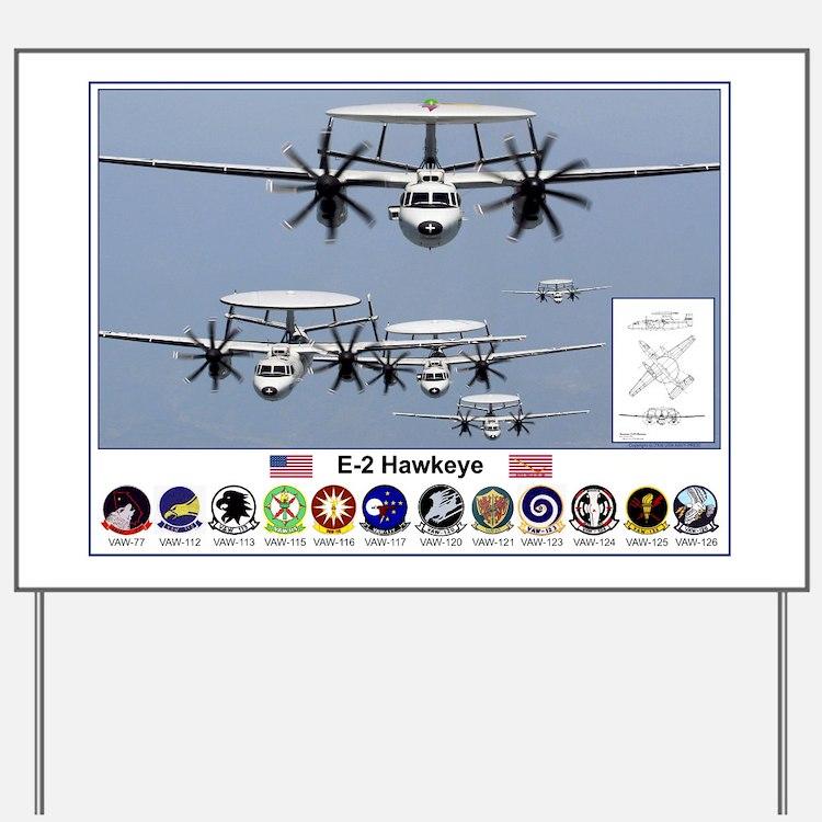 E-2 Hawkeye Yard Sign