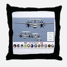 E-2 Hawkeye Throw Pillow