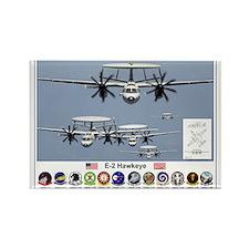 E-2 Hawkeye Rectangle Magnet