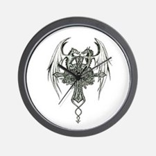 Dragon cross Wall Clock