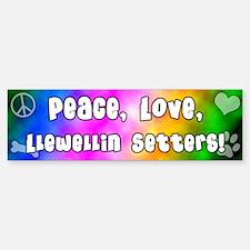 Hippie Llewellin Setter Bumper Bumper Bumper Sticker