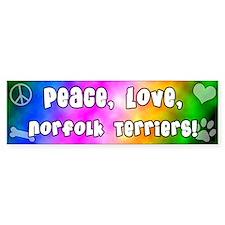 Hippie Norfolk Terrier Bumper Bumper Sticker