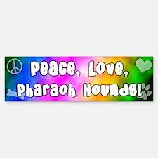 Hippie Pharaoh Hound Bumper Bumper Bumper Sticker