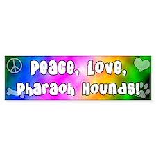 Hippie Pharaoh Hound Bumper Bumper Sticker