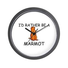 I'd Rather Be A Marmot Wall Clock