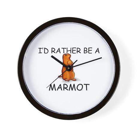 I'd Rather Be A Marmot Wall Clock