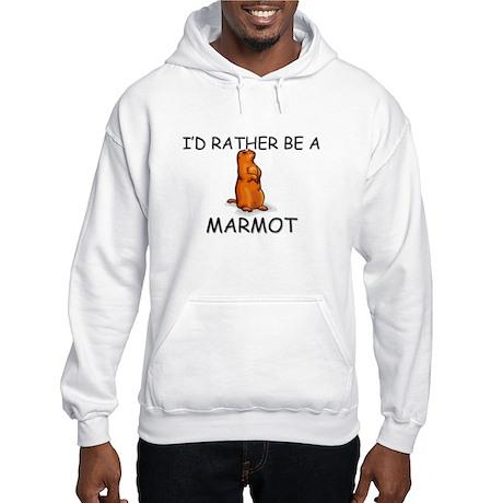 I'd Rather Be A Marmot Hooded Sweatshirt