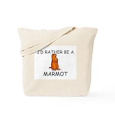 I'd Rather Be A Marmot Tote Bag