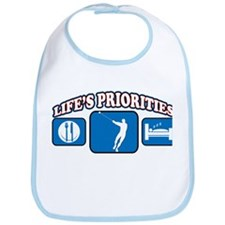 Life's Priorities Hammer Thro Bib