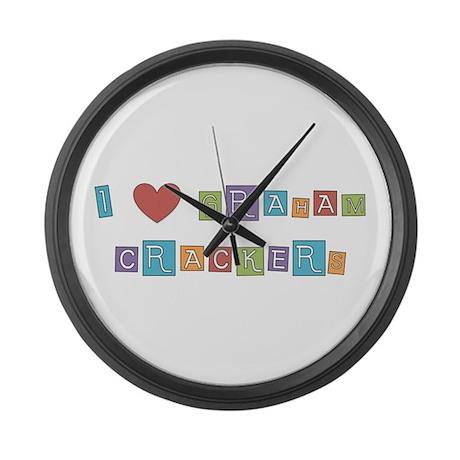 graham cracker Large Wall Clock