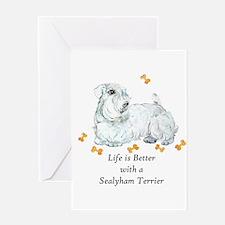 Sealyham Terrier Good Life Greeting Card