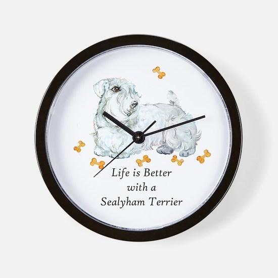 Sealyham Terrier Good Life Wall Clock