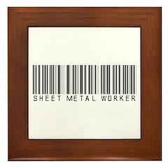 Sheet Metal Worker Barcode Framed Tile
