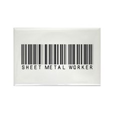 Sheet Metal Worker Barcode Rectangle Magnet