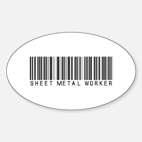 Sheet Metal Worker Barcode Oval Decal