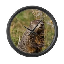 Groundhog Large Wall Clock