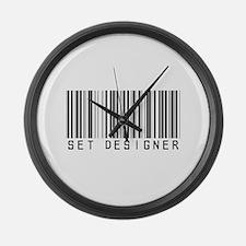 Set Designer Barcode Large Wall Clock