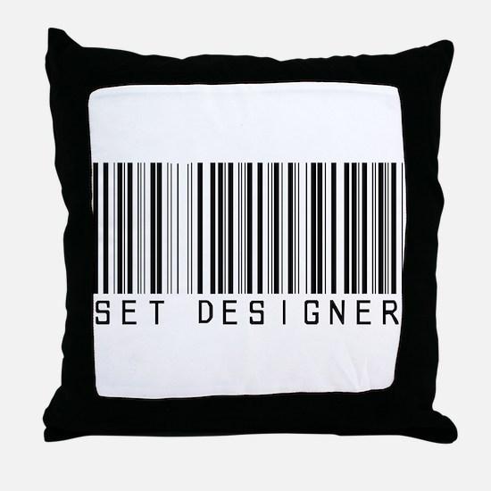 Set Designer Barcode Throw Pillow