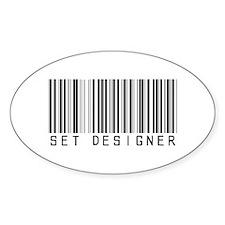 Set Designer Barcode Oval Decal