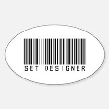 Set Designer Barcode Oval Decal