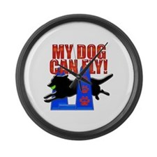 My Dog Can Fly Large Wall Clock