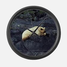 Spirit Bear Large Wall Clock