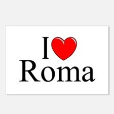 """""""I Love (Heart) Roma"""" Postcards (Package of 8)"""