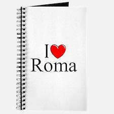 """""""I Love (Heart) Roma"""" Journal"""
