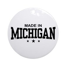 Made in Michigan Ornament (Round)
