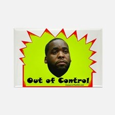 """""""Out of Control"""" Rectangle Magnet"""