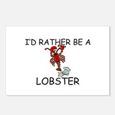 I'd Rather Be A Lobster Postcards (Package of 8)