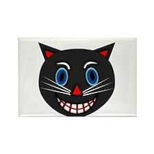 Vintage Black Cat Rectangle Magnet (100 pack)