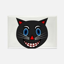 Vintage Black Cat Rectangle Magnet (100 pack)