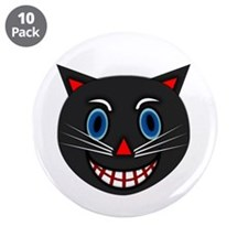 "Vintage Black Cat 3.5"" Button (10 pack)"
