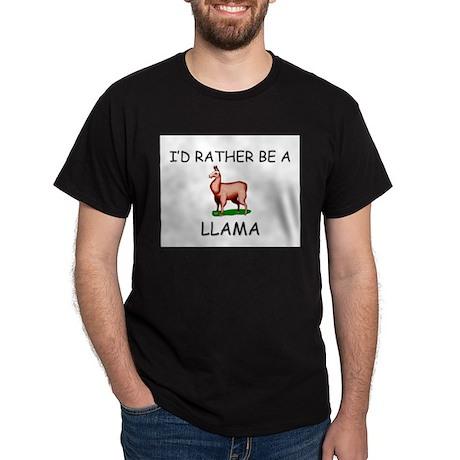I'd Rather Be A Llama Dark T-Shirt